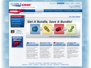 Cableone.com For your Home landing page