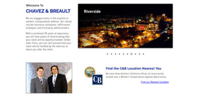 Chavez & Breault website design