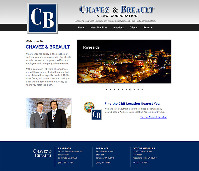 Chavez & Breault website design