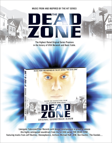 Dead Zone Digipak Onesheet design (front side)