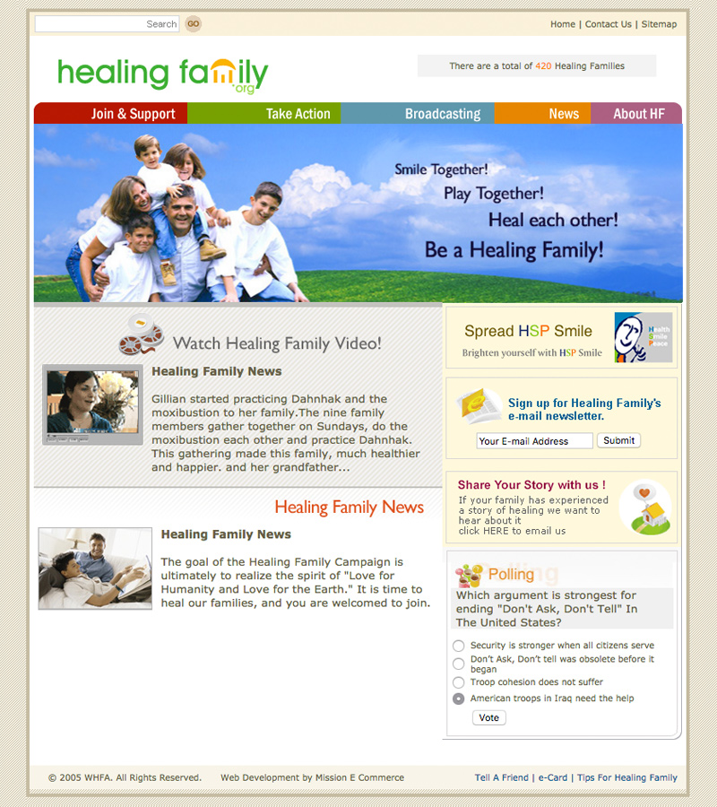 Healing Family Website design template