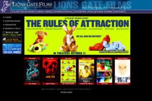 Lionsgate Films Corporate website design