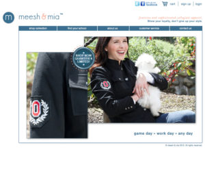 Meesh & Mia homepage (old)