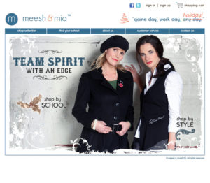 Meesh & Mia homepage update