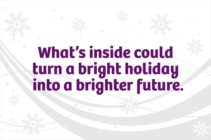 Rich Dad holiday mailer design (outside)