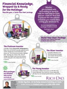 Rich Dad holiday mailer inside design spread