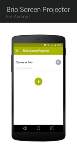 Brio Android App Landing Screen design for Lollipop