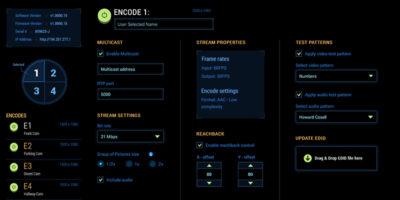 Christie Phoenix Quad-T Web Application design