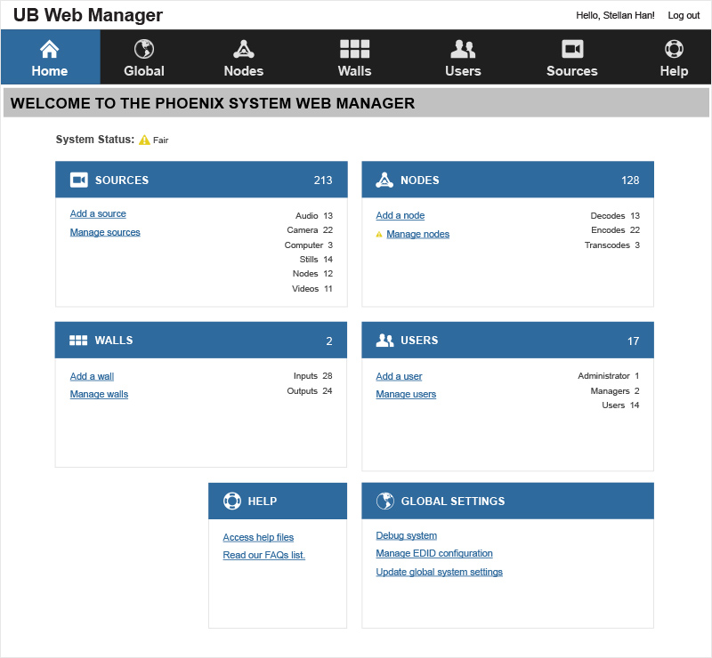 Phoenix Web Manager - Home Page