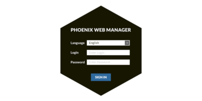 Phoenix Web Manager - Login Screen
