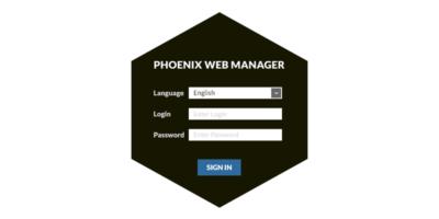 Phoenix Web Manager - Login Screen