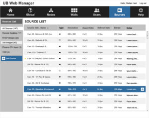 Phoenix Web Manager - Source List