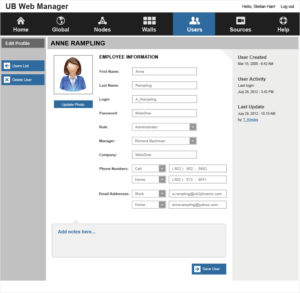 Phoenix Web Manager - User Profile Edit Mode