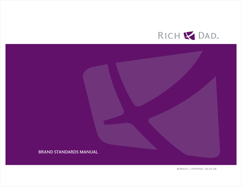Rich Dad Brand Standards Manual redesign - cover page