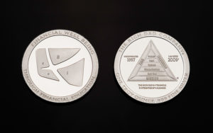 Rich Dad minted silver coin visual design