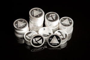 Rich Dad minted silver coin stacks