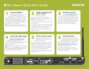 Brio Team+ Quick Start Guide (front)