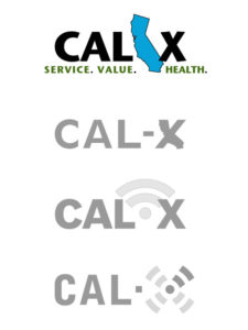 Cal-X logo design iterations