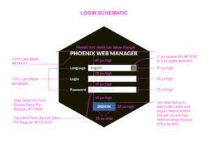 Phoenix software login style schematic